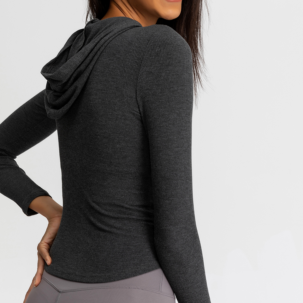 Slim Fitness Running Hooded Jacket for Women Womens Clothing Jackets & Hoodies