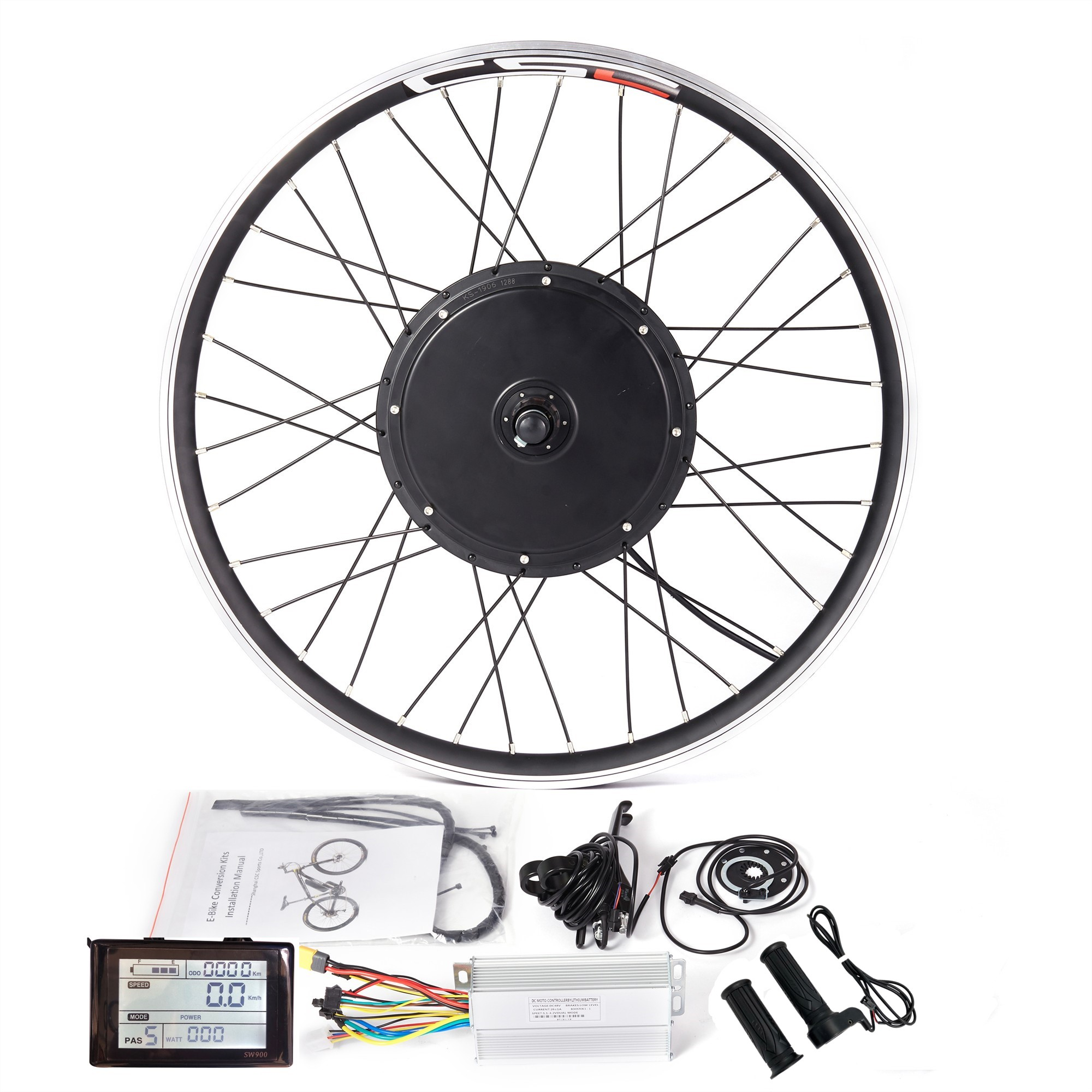 48V 1500W 1000W Rear Wheel Electric Bicycle E-Bike Kit Conversion LCD Display