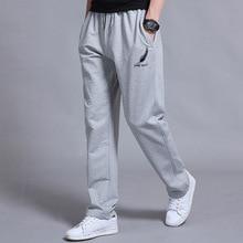 Men's High quality Brand Men Pants Loose Casual Straight Cotton Track Jogging Trousers Plus Size 5XL 6XL
