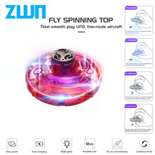 ZWN F10 Flying Fidget Spinner Athletic Game Toy Antistress Gyro Rotator Drone Plane Led Finger Spinner Route Rotary Child Gift(China)