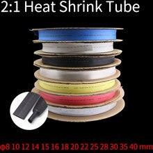 Термоусадочные трубки 2:1 черные прозрачные термоусадочные для