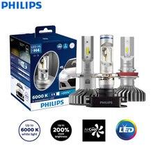 Philips X-treme Ultinon светодиодный H4 H7 H8 H11 H16 9005 9006 HB3 HB4 12 в 6000 К Автомобильный светодиодный головной светильник Автомобильные противотуманные фары+ 200% ярче(двойной