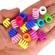 50pcs/lot Acrylic Mixed Color Dreadlock Beads Dread Cuff Braided Colorful Hair Rings Fashion Micro Hair Beads in Braids Hair