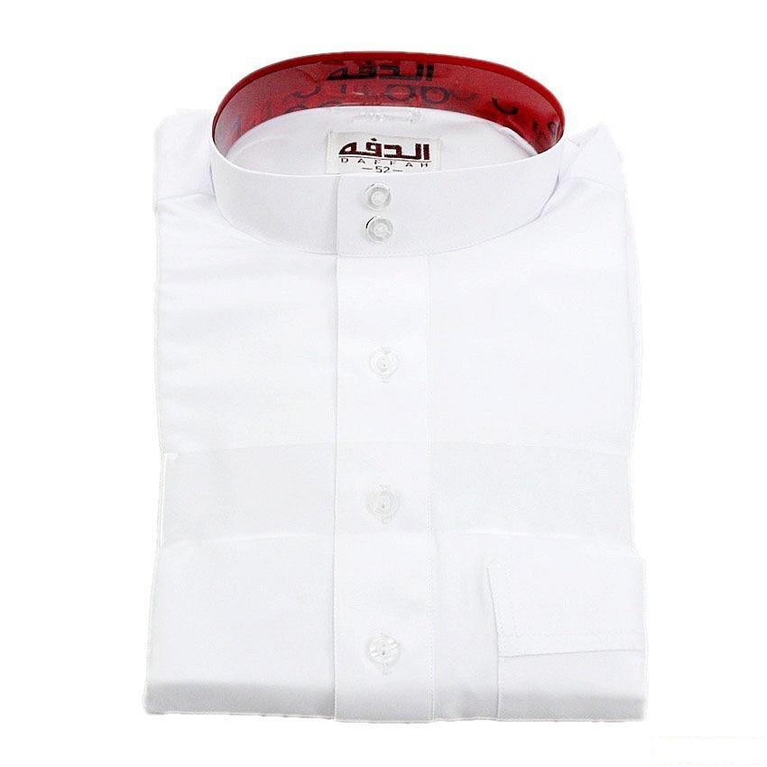 Solid Color Long Robe White Man Muslim Jubba Thobe Turkish Arab Kaftan Full Sleeve Polyester Islamic Traditional Gown