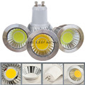 Dimmable COB Светодиодный прожектор 9 Вт 12 Вт 15 Вт 18 Вт светодиодные лампы 85-265 в GU10 COB Светодиодная лампа, теплый белый свет холодный белый лампада ...