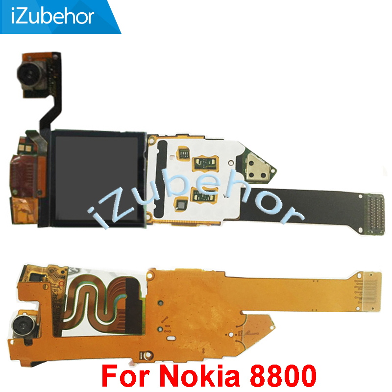 100% warranty new LCD Screen Display with flex cable Complete For <font><b>Nokia</b></font> <font><b>8800</b></font> Sirocco 8800SE 8800D <font><b>8800</b></font> lcd image