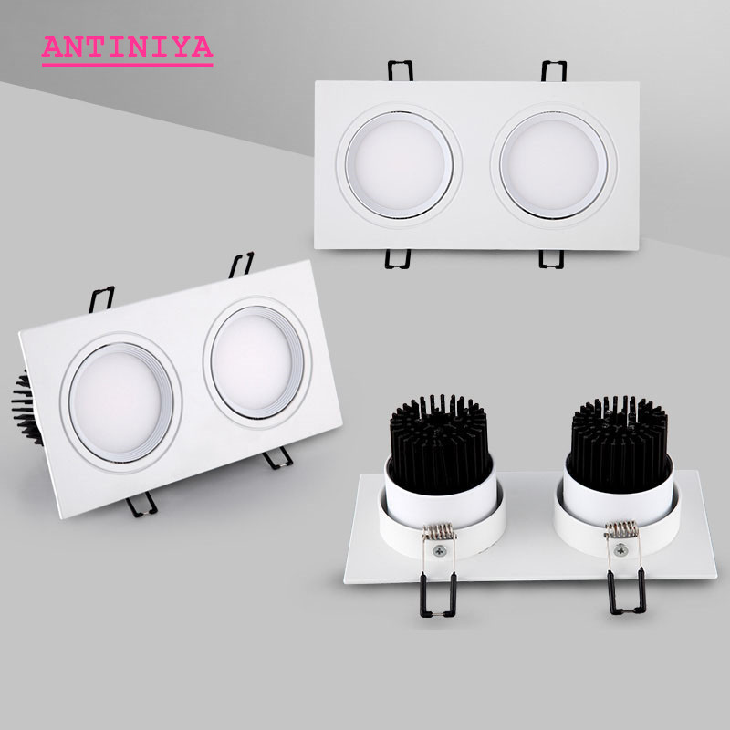 High Quality Dimmable LED COB Spotlights Ceiling Lamp AC85-265V 8W12W/16W24W Aluminum Recessed Downlights Round LED Panel Light