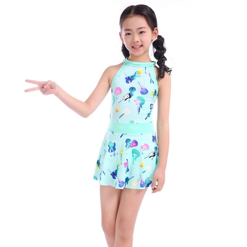 Drop Love For Water New Style Girls Printed Bathing Suit Big Boy Korean-style One-piece KID'S Swimwear