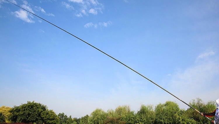 m-15 m ultra leve viagem dura carpa vara de pesca alimentador