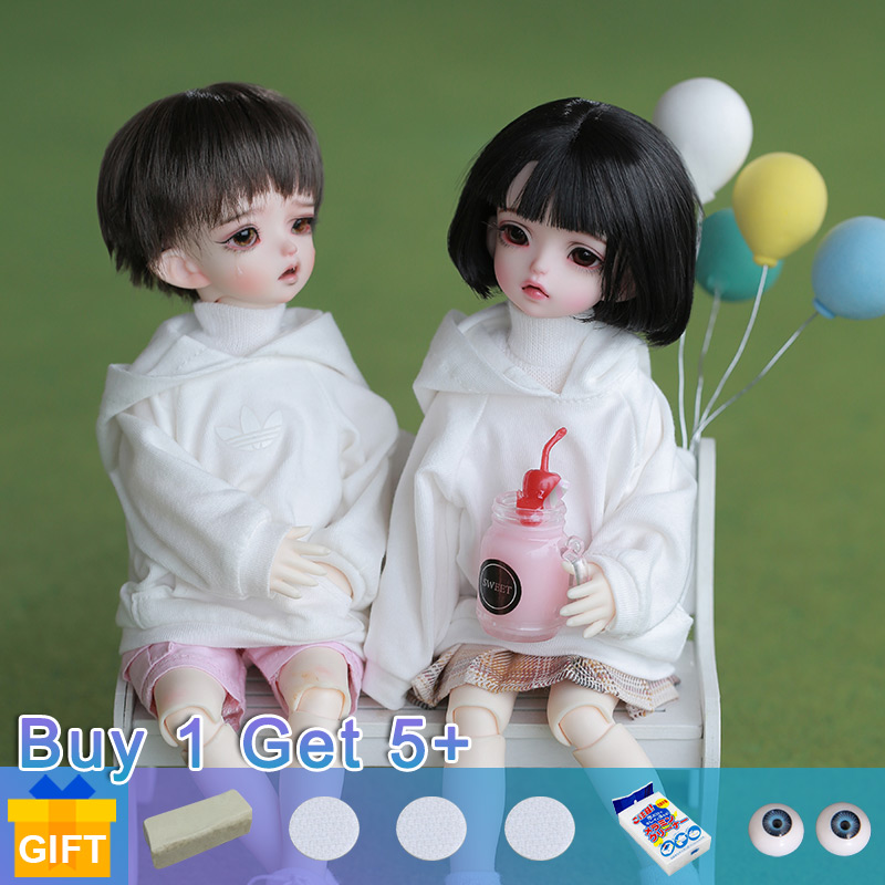 Isoom Emica & Emilia Doll BJD 1/6 Yosd Dolls Movable Joint Fullset Complete Professional Makeup Fashion Toys For Girls Gifts