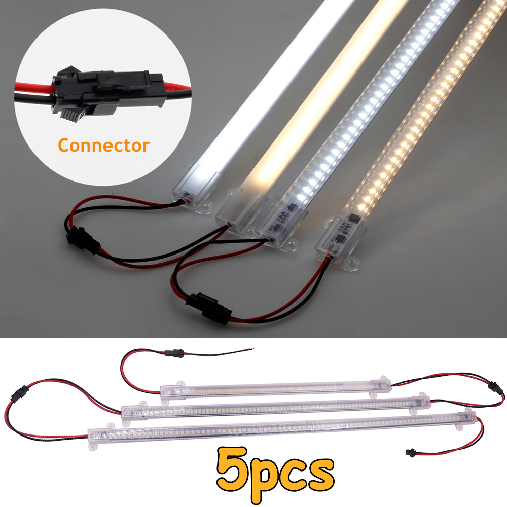 5Pcs 220V LED Rigid Light Strip High Brightness 30/40cm SMD LED Fluorescent Floodlight Tube Bar Industries Showcase Display Lamp