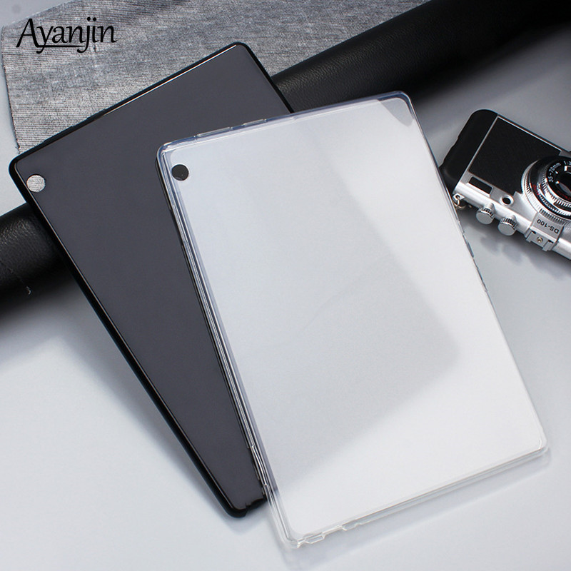 Soft Silicon Transparent TPU <font><b>Case</b></font> for <font><b>Lenovo</b></font> Tab M10 10.1 <font><b>TB</b></font>-X605L <font><b>TB</b></font>-X605F Ultra Slim Tablet Protective Cover Fundas+Stylus pen image