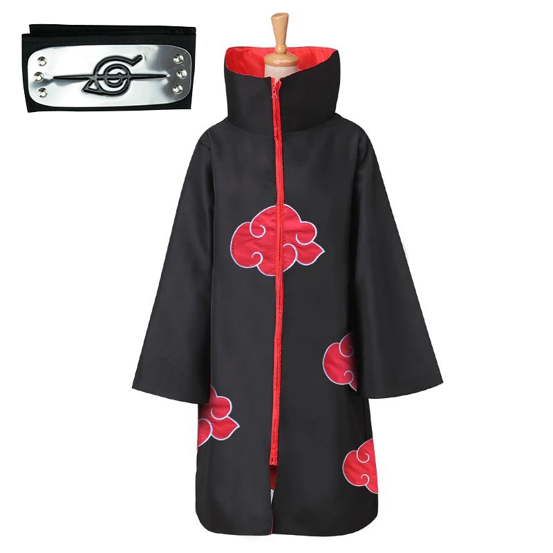 Anime Naruto Akatsuki Cosplay Costume Akatsuki Cloak Naruto Uchiha Itachi Cape Anime Party Halloween Costume