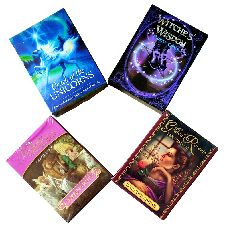 ler novo 2019 cartas de taro lenormand oraculo misterioso jogo de adivinhacao destino unicornio oraculo cartas