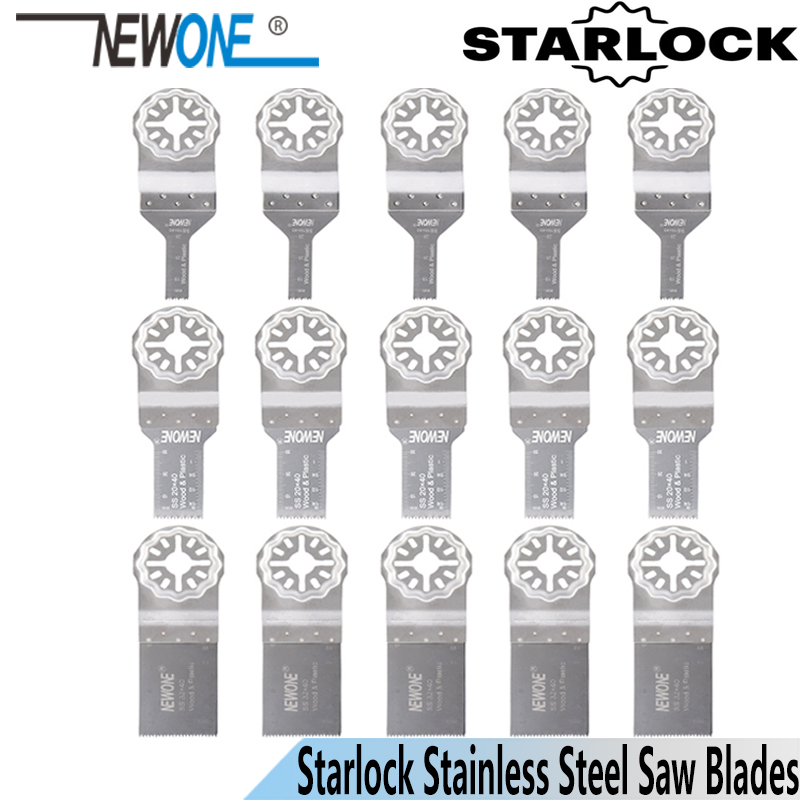 NEWONE Starlock 10mm/20mm/32mm Stainless Steel Saw Blades Fit Power Oscillating Tools Multi-function Tool For Cutting Wood