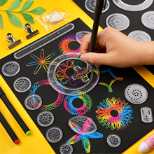 28Pcs Reusable Spirograph Drawing Toy Set Gears Wheel Painting Accessories Easy to Use QP2