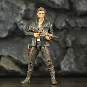 "Image 1 - SW 6"" Captain POE Dameron Action Figure Movie TLJ Original Black Series Collectable Wars Doll Toys Model"