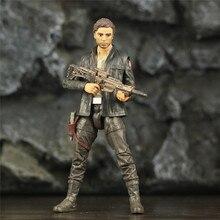 """SW 6 """"الكابتن بو Dameron عمل الشكل فيلم TLJ الأصلي الأسود سلسلة تحصيل الحروب ألعاب الدمى نموذج"""
