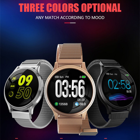 MK08 Heart Rate Blood Pressure Sleep Monitoring Smart Watch Sports Bracelet 1.22inch Sports 3 Colours For Ios For Xiaomi #20 #20 Pakistan