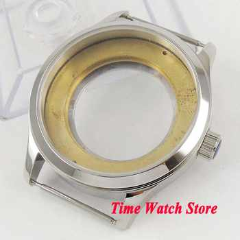 42mm watch case polished 316L Stainless Steel sapphire glass fit ETA 2836 Miyota 8215 movement C20 - DISCOUNT ITEM  35 OFF Watches