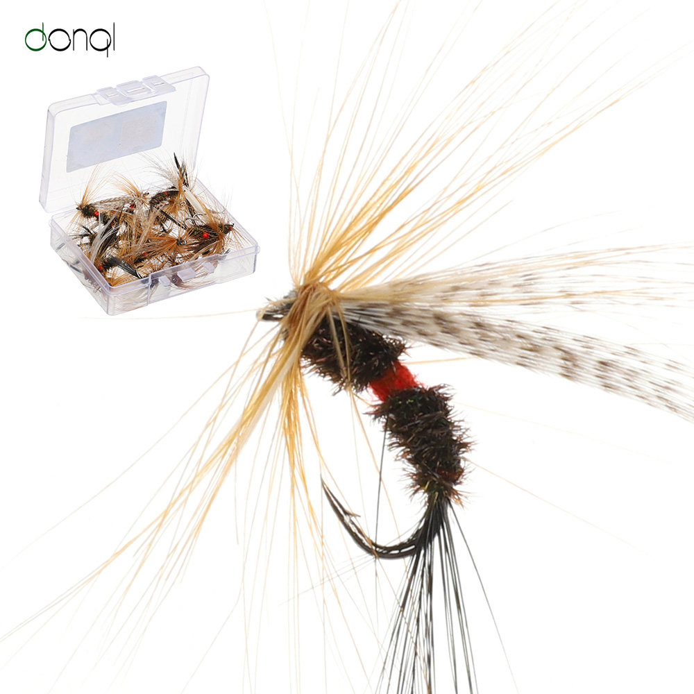 DONQL 10/20/50pcs Insects Flies Fly Fishing Lures Topwater Dragonfly Bait Dry Flies Trout Artificial Crank Hook Insects Lure