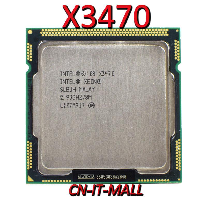 Pulled Xeon X3470 CPU 2.93GHz 8M 4 Core 8 Threads LGA1156 Processor