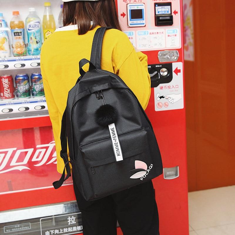 Fashion Mini Backpack For Women High Quality Oxford Cloth Shoulder Bag For Teenagers Girls Travel 2019 Black School Bag