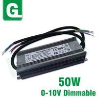50W LED Dimming Drive 0 10V Waterproof Lighting Transformer Output DC27 42V 1500mA Power Supply For DIY Floodlight