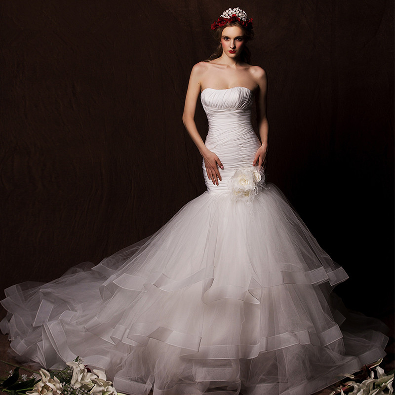 Lace Up Flowers 2018 Simple Cheap Sexy Sweetheart Tiered Pleat New Vestido De Noiva Bridal Gown Mother Of The Bride Dresses