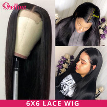 Straight Lace Front Human Hair Wigs 6x6 Lace Closure Wig Human Hair Wigs PrePlucked Brazilian Straight Human Hair Lace Wigs