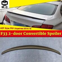 цена на F33 Spoiler Tail Wing FRP Unpainted For BMW 4-Series 420i 428i 430i  2-Door Convertible AEP Style sedan duckbill Spoiler 2014-18