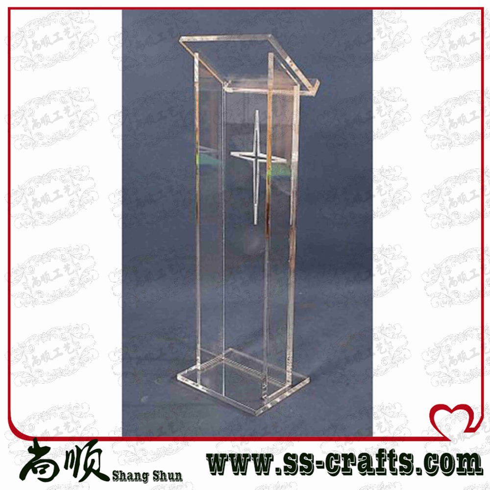 Free Shipping Truth Ministries Christian Clear Acrylic Lectern With Silk Screen Printing Logo Plexiglass