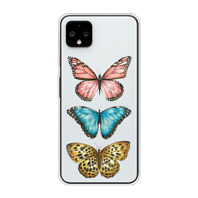 Cute Butterfly Blue Phone Case For Google Pixel 4 XL TPU Soft Funda For Google Pixel 3A 3 2 XL 3XL Coque Clear Monarch Butterfly