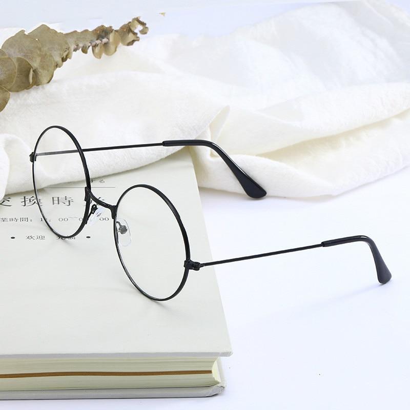 The New Glasses Korean Version Of The No Degree Number Flat Mirror Fashion Retro Prince Mirror Literary Round Frame Eyeglasses