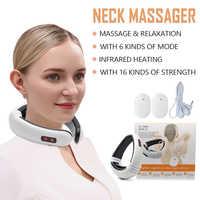 Drop verschiffen Elektrische Pulse Zurück und Neck Massager Fernen Infrarot Heizung Schmerzen Relief Werkzeug Gesundheit Pflege Entspannung