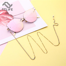 TTLIFE Gold Beads Sunglasses Chain Eye Glasses For Women Holder Cord Lanyard Necklace Reading  YJHH0278