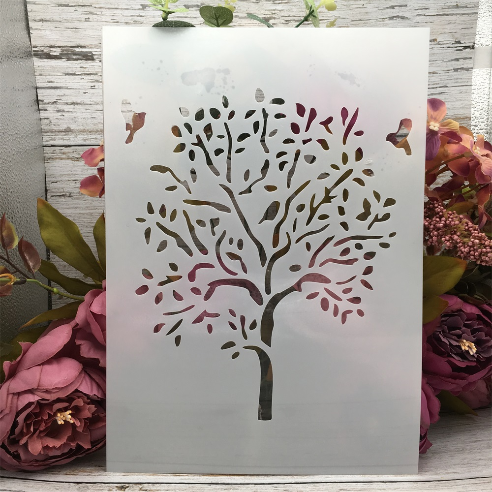 29*21cm A4 Big Tree DIY Layering Stencils Wall Painting Scrapbook Coloring Embossing Album Decorative Paper Card Template