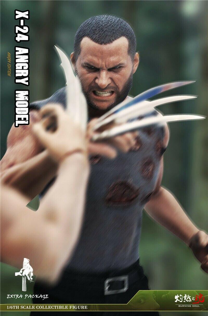 Scorching Soul 1//6 Villain Wolf X24 Male Figure Action Body Cloned War Damage