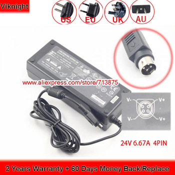 UK Replacement for 24V 6.67A AC Adapter model 0226B24160 4 Pin DIN Plug