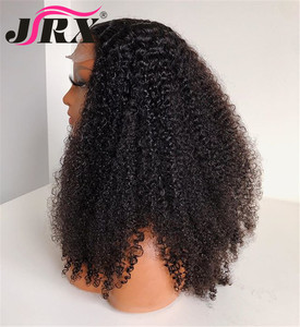 Image 4 - Afro Kinky Curly Wig 13x4 Lace Front Human Hair Wig High Ratio For Women Remy Hair Wig Human Hair Lace Front Wigs