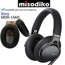 Misodiko REPLACEMENT EAR Pads เบาะชุด สำหรับ Sony MDR 1AM2 MDR1AM2,ชิ้นส่วนซ่อมหูฟังหูฟังพร้อมคลิปแหวน