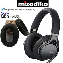 Misodiko Vervanging Oorkussens Kussen Kit voor Sony MDR 1AM2 MDR1AM2, Hoofdtelefoon Reparatie Onderdelen Oorkussen met Clip Ring