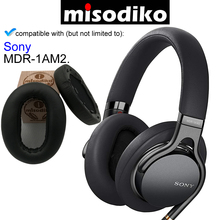 misodiko Replacement Ear Pads Cushion Kit   for Sony MDR 1AM2 MDR1AM2, Headphones Repair Parts Earpads with Clip Ring
