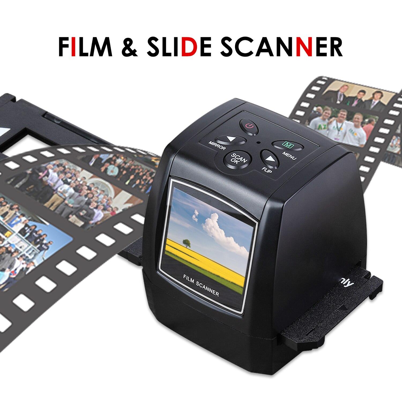 Alta resolução 5mp 35mm scanner de filme negativo, 110 135 126kpk, varredor de filme da corrediça, impressora fotográfica com tela suporte do cartão sd