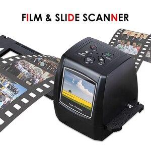 High Resolution 5MP 35mm Negative Film Scanner 110 135 126KPK Slide Film Photo Scanner Printer w/2.4in Screen Support SD Card