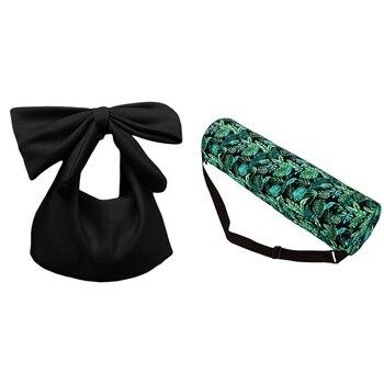 ASDS-1pcs Women Handbags Bowknot Clutches Bag Handbag Shoulder & 1pcs Zipper Sports Yoga Mat Green - discount item  14% OFF Women's Handbags