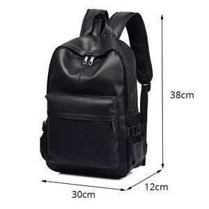 Image 3 - Yeni moda erkekler sırt çantası erkek sırt çantaları genç için lüks tasarımcı PU deri sırt çantaları erkek yüksek kaliteli seyahat sırt çantaları