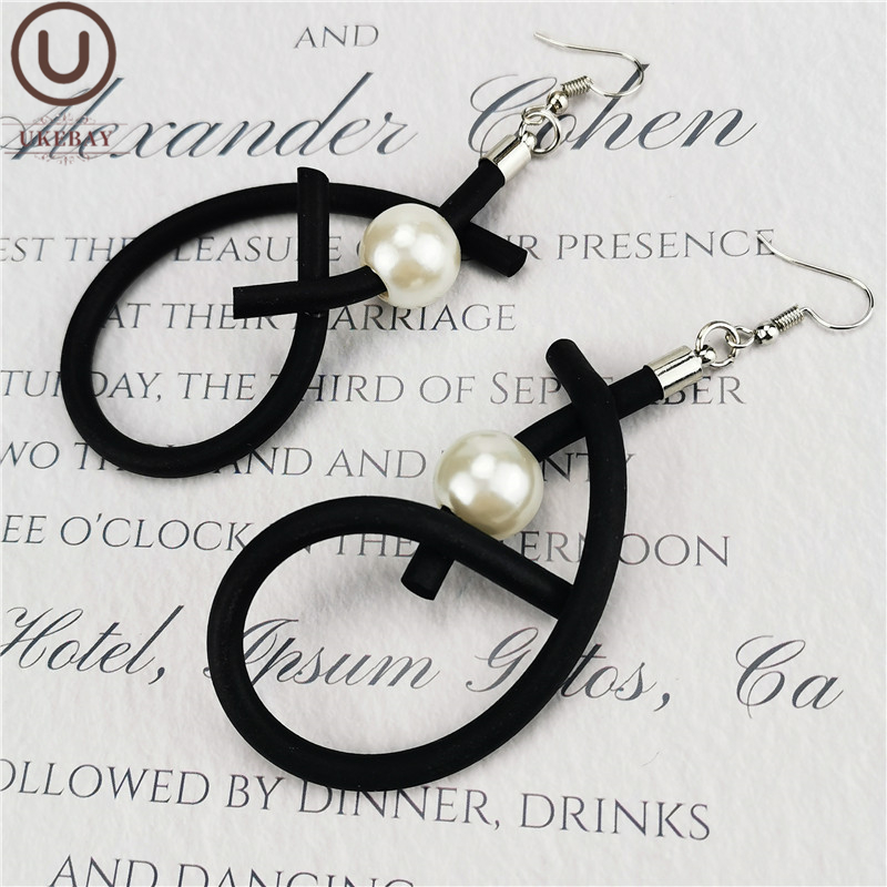 UKEBAY New Designer Original Handmade Jewelry Women Drop Earrings Pearl Jewelry Geometrice Strange A Pair Of Earrings Gift Wife