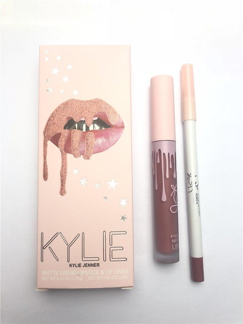 2020 KYLIE Lip Gloss Matte Lipstick+lips Pencil Makeup Lasting Waterproof Liquid Lip Gloss Kilie Lipstick Kyliejenner Maquiagem