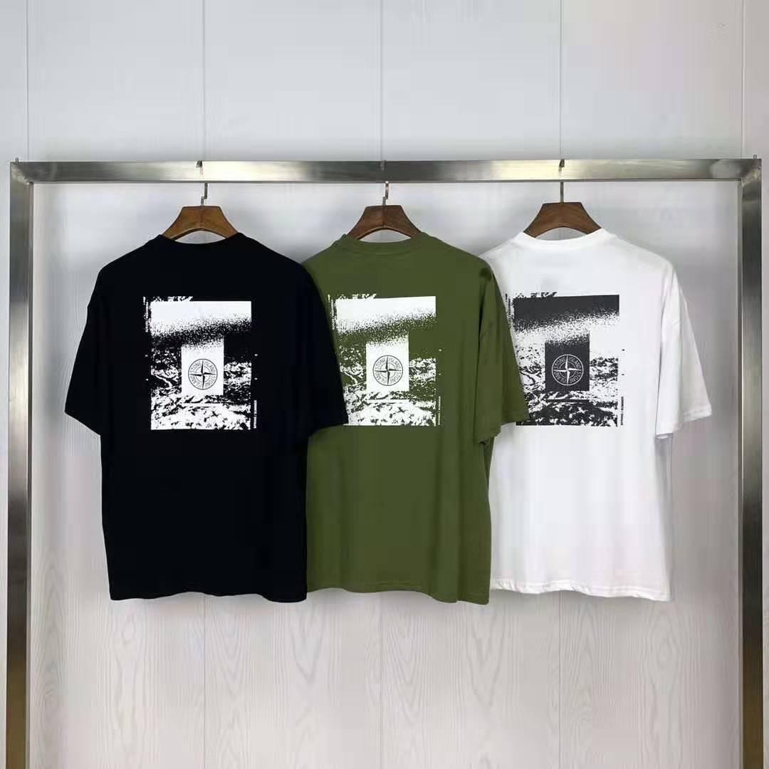 Popular Brand Stone 20 Spring And Summer New  Product Emblem  Standard Pattern Printing Short-sleeved T-shirt Men's
